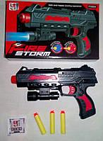 Пистолет с силиконовыми пулями и пулями-присосками с фонарем