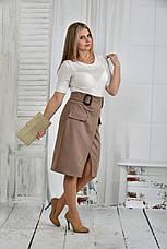 Оригинальное платье больших размеров 0396 бежевое, фото 2