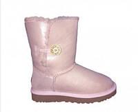 Сапоги UGG Bailey Button Metallic Pink женские оригинал