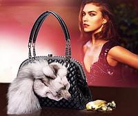 Меховая сумочка. Женская сумка из меха лисы