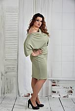 Платье больших размеров 0397 шалфей, фото 2