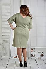 Платье больших размеров 0397 шалфей, фото 3