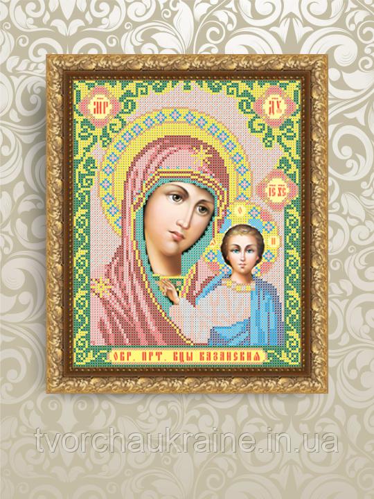 Авторская канва для вышивки бисером «Казанская Божия Матерь»