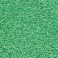 Сахарные жемчужины зеленые перламутровые