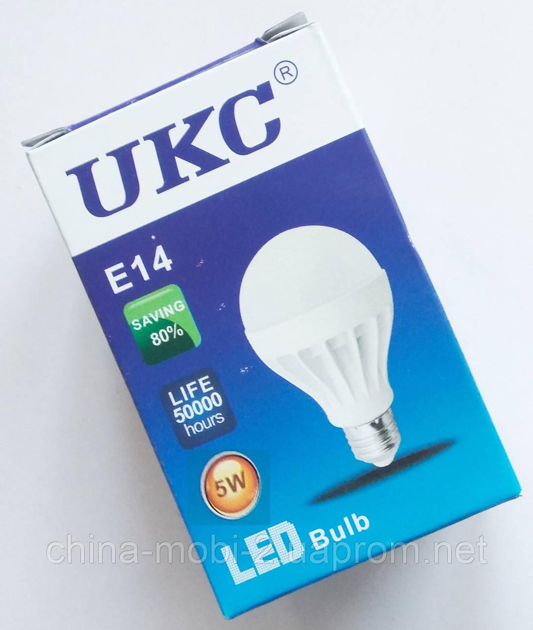 Светодиодная лампа LED UKC 220V 5W E14 круглая