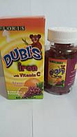 Железо с витамином С для укрепления иммунитета детей 60 шт Дубис