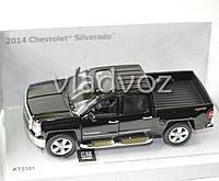 Машинка Chevrolet Silverado метал 1:32 черная