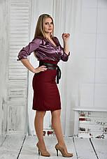 Платье больших размеров 0402 бордо, фото 2
