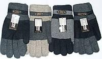 Мужские перчатки двойные КОРОНА с махровой подкладкой 8104