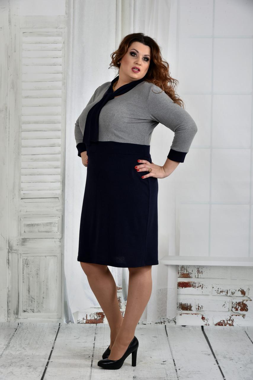 Теплое платье больших размеров