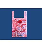 """Пакет полиэтиленовый Майка с рисунком 32х55 """"Газета Мороженное"""" 100шт"""