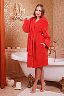 Халат женский красный (КОРОТКИЙ)
