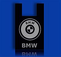 """Пакет полиэтиленовый Майка с рисунком 38х58 """"BMW"""" Premium черный 100шт"""