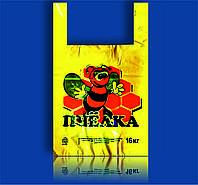 """Пакет полиэтиленовый Майка с рисунком 38х58 """"Большая пчелка"""" 100шт"""