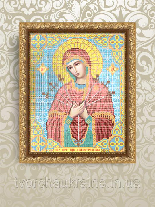 Авторская канва для вышивки бисером «Божия Матерь Семистрельная»