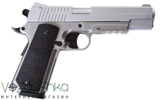 пневмаический пистолет kwc km-42 zs (colt 1911) silver