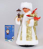 Снегурочка в золотом, музыкальная под елку, 24 см