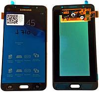 Дисплей (экран) + сенсор (тач скрин) SAMSUNG Galaxy J7 SM-J710H black (оригинал)