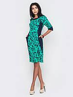 Красивое стильное женское платье миди из французского трикотажа рукава 3/4 90200, фото 1