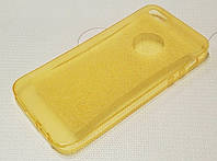 Чехол силиконовый прозрачный с блестками для iPhone 5/5s/5se