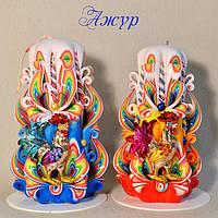 Новогодний комплект свечей ручной работы