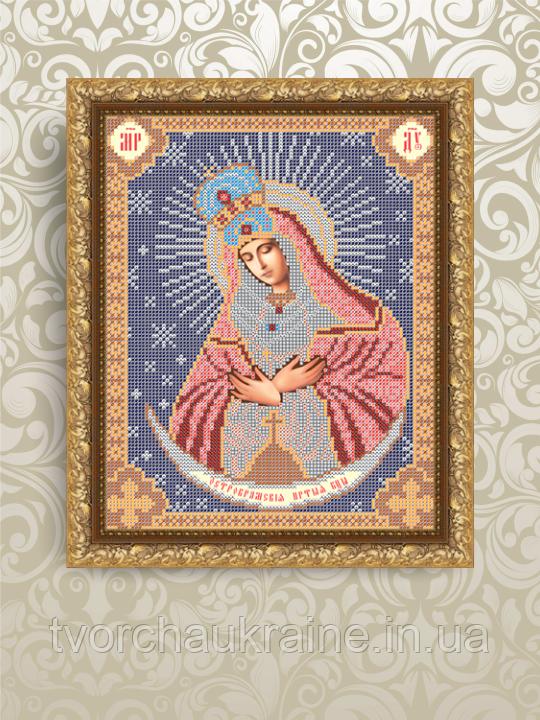 Авторская канва для вышивки бисером «Божия Матерь Остробрамская»
