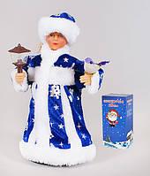 Снегурочка в синем, музыкальная под елку, 24 см