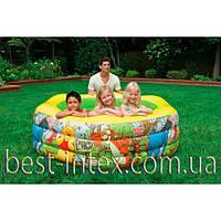 Intex 57494 (191x178x61 см.) Детский надувной бассейн Дисней