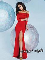 Платье в пол с высоким разрезом
