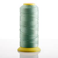 Нитка зеленый Оливковый  d-0.6мм капроновая для рукоделия 500 м