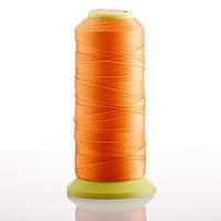 Нитка Оранжевый  d-0.6мм капроновая для рукоделия 500 м