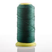 Нитка темно Зеленая d-0.9 мм  капроновая для рукоделия 500 м
