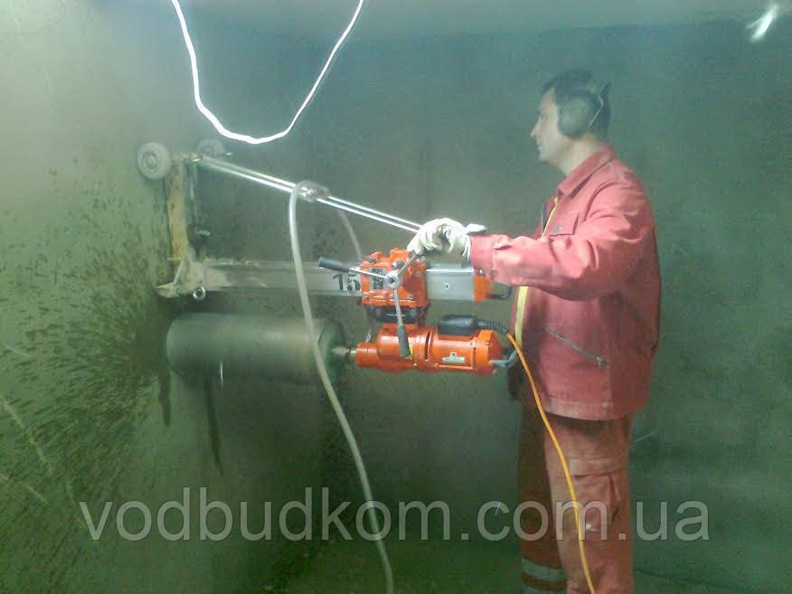 Алмазне буріння свердління отвору діаметром 222 мм Тернопіль