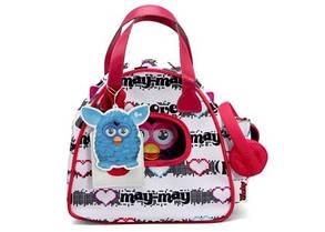 Сумочка белая для Furby (с розовыми ручками и наушниками)