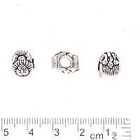 Фурнитура Вставка бусина  Лев цвет металла серебро отверстие Ø 3мм
