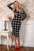 """Платье """"Альтера принт француз"""" Черный/белый клетка средняя 9/2 ; 5/1"""