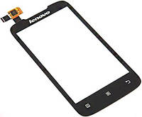 Сенсор (тач скрин) Lenovo A308 black (оригинал)