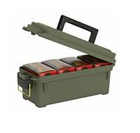 Ящик Plano Shot для глад патронов на 4 упаковки, герметичный, зеленый