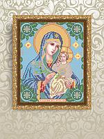 Авторская канва для вышивки бисером «Богородица Неувядаемый цвет»