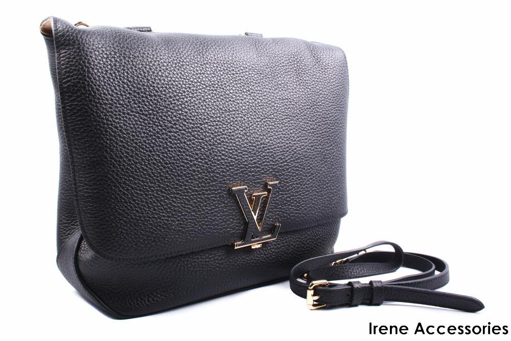 Стильная женская сумка Louis Vuitton цвет черный, натуральная кожа