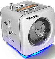 Музыкальная мини колонка DL-WS908RL, колонка портативная с радио mp3