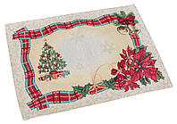 Салфетка новогодняя, елка, 35x45
