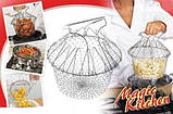 Chef Cesta Chef Basket Magic Kitchen складная решетка для приготовления пищи Шеф Баскет, фото 5