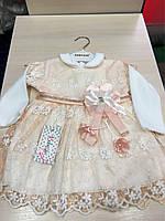 Нарядное платье на девочку 9-12 месяцев