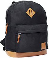 Рюкзак Bagland Молодежный (кожзам) 17 л. Чёрный (00533663)