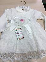 Красивое нарядное платье на девочку от 6 месяцев до полутора лет