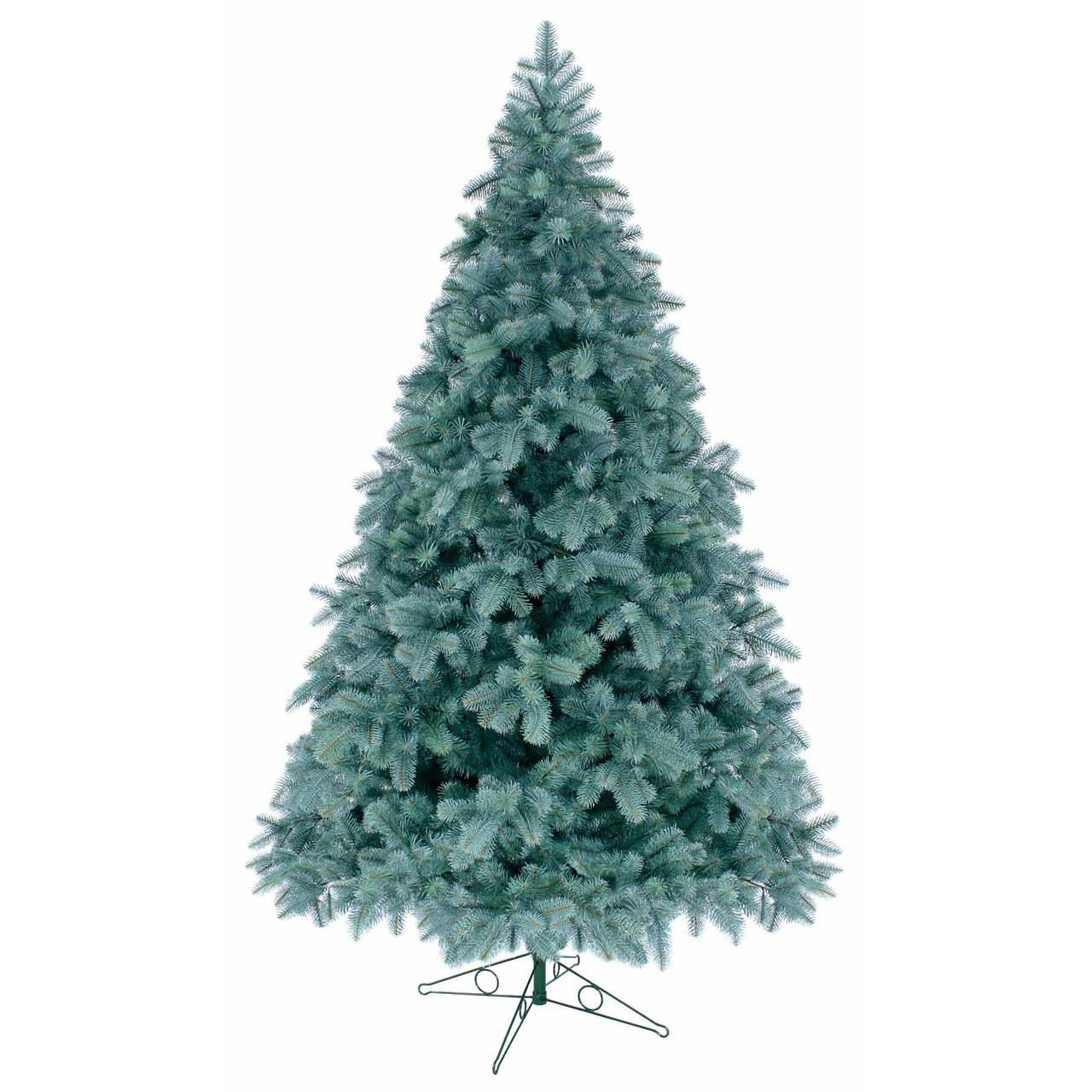 Литая искусственная елка 1,5 метра голубая ель