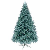 Литая искусственная елка 2,1 метра голубая ель
