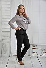 Классические брюки больших размеров 021 серые, фото 3
