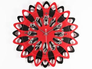 Стильные настенные часы Красное и черное